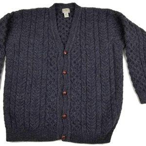 Vintage L. L. Bean Wool Cardigan Sweater XL TALL